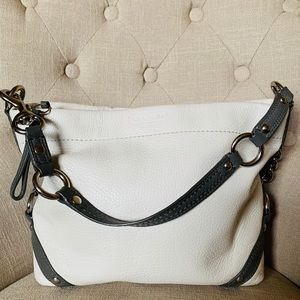 Gorgeous Coach Carly White Leather Hobo LIKE NEW!